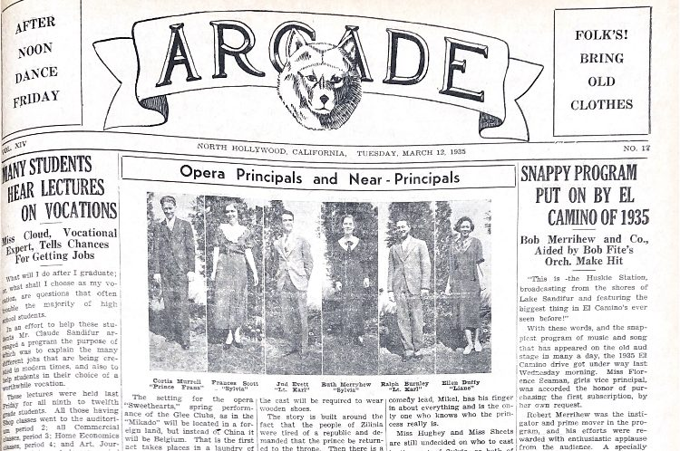 Old issue of The Arcade from 1935