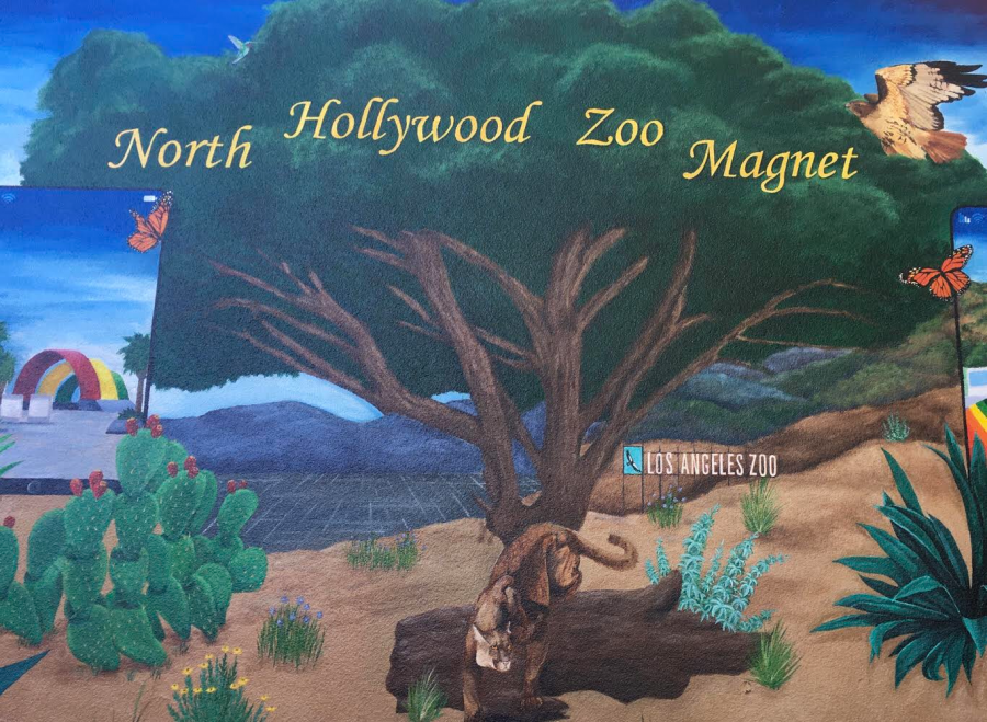 Mural+at+North+Hollywood+High+School+Zoo+Magnet