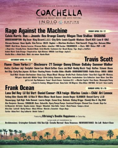 Coachella lineup | @coachella on instagram