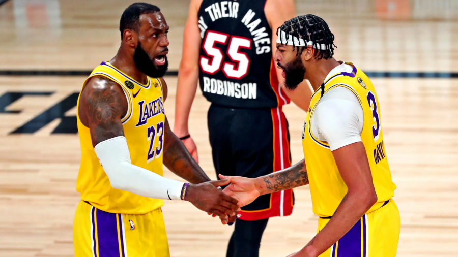 The Lakers enjoyed their return to the Finals with great performances from LeBron James (23) & Anthony Davis (3).