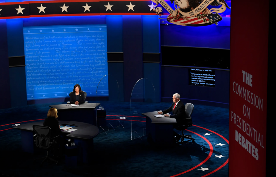 Unlike+the+Presidential+Debate%2C+the+Vice+Presidential+debate+provided+audiences+with+class%2C+respect%2C+and+professional+mannerisms+from+the+two+candidates.+